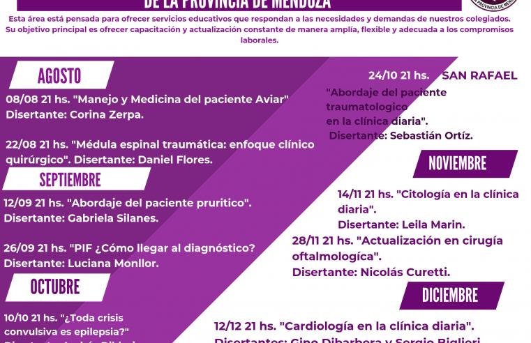 FORMACIÓN CONTINUA EN EL COLEGIO DE MÉDICOS VETERINARIOS DE LA PROVINCIA DE MENDOZA.