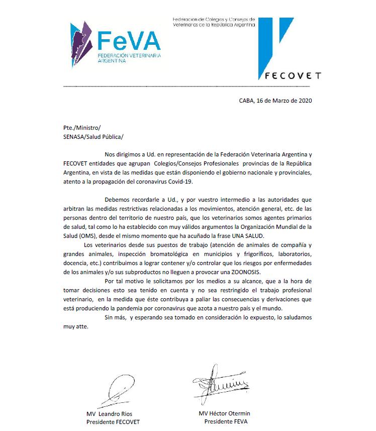 Comunicado de FEVA por el Coronavirus