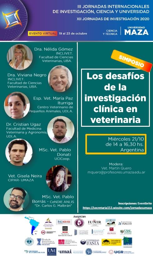 Simposio: Los desafíos de la investigación clínica en veterinaria.