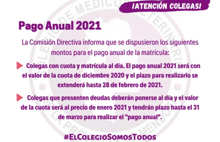 Pago Anual 2021