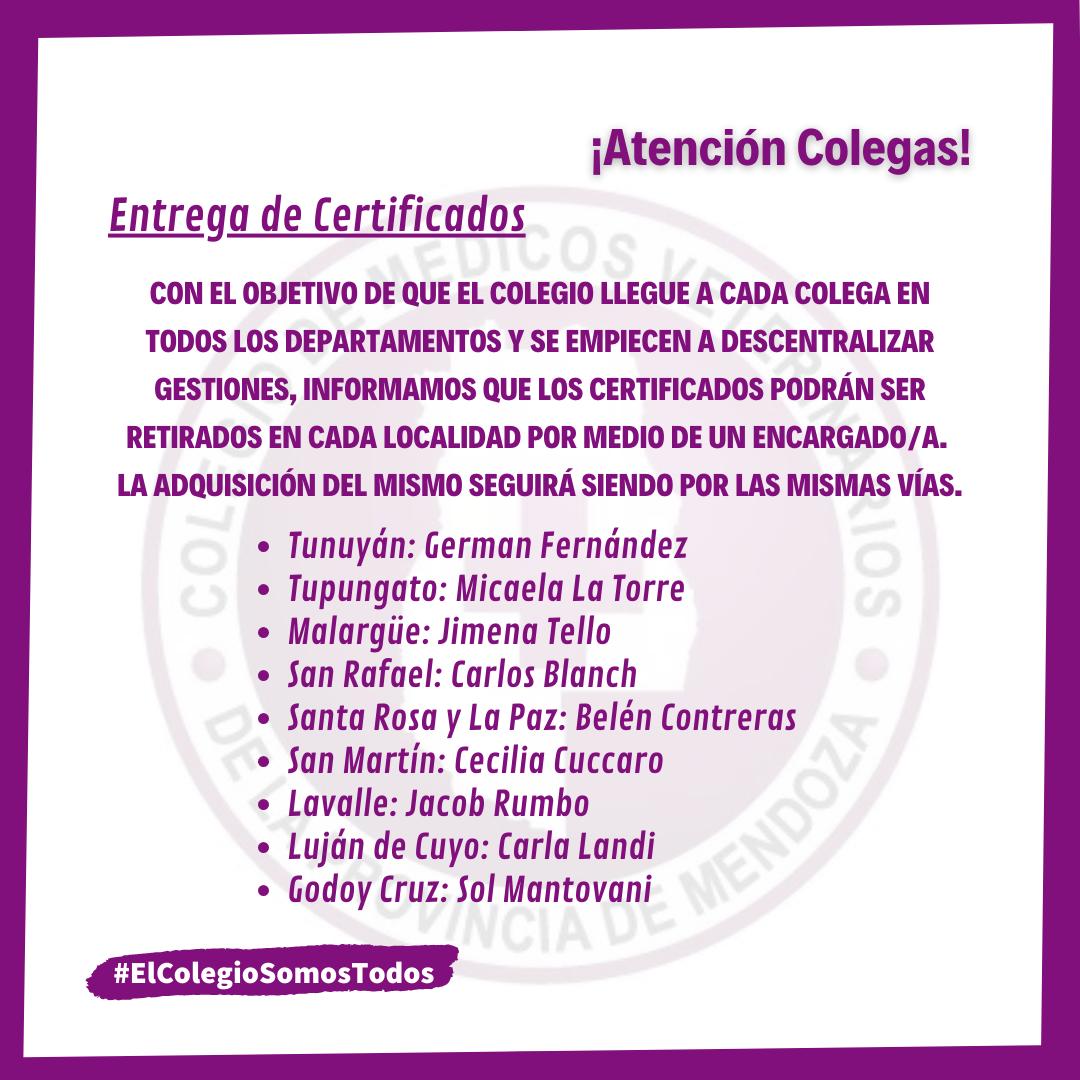 Entrega de Certificados departamental