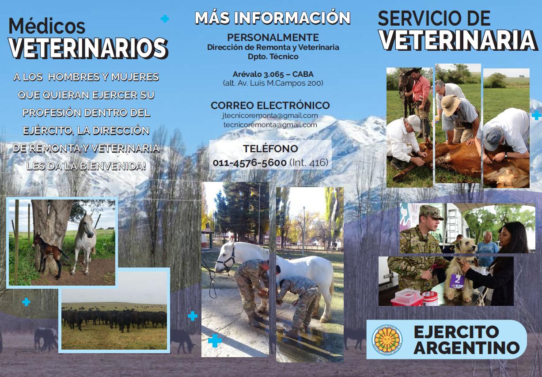 Ingreso al Servicio Veterinario del Ejército Argentino